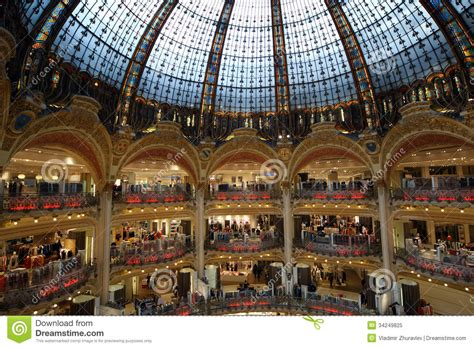 Ceiling Decoration by Ceiling Of The Lafayette Luxury Shopping Mall In Paris