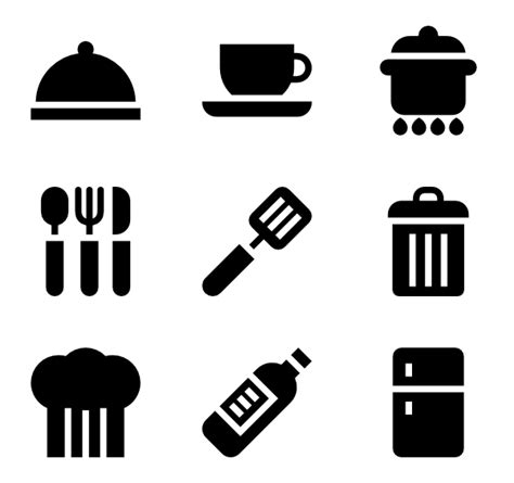 kitchen icon basic straight icon family filled 60 282 vector icons
