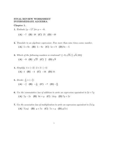 Algebra 1 Worksheet 1 5 Translating Expressions by 12 Best Images Of Translating Algebraic Expressions