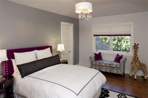 grey tone bedroom gray and purple room contemporary girl s room