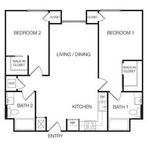 Floor Plan Of 2 Bedroom Flat apartments for rent in hollywood floor plan 25 eastown