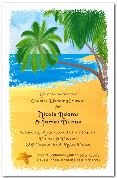 tropical island themed wedding invitations palms on the shore tropical invitations invitations