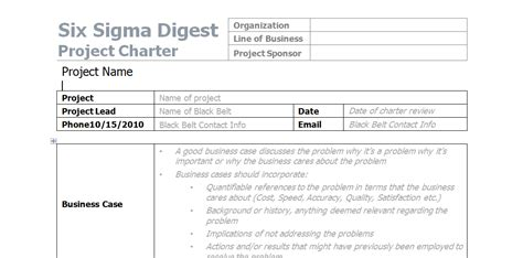 Best Photos Of Project Charter Document Project Charter Project Charter Six Sigma