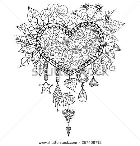 michel bouquet stabilo adult coloring book stock vectors vector clip art