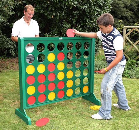 backyard connect four big 4 painted wooden four in a row game