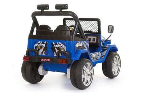 Childrens Electric Jeep Blue 12v 2 Seats 4x4 Jeep Battery Ride On Cars