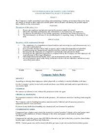 Health Safety Statement Template by Safety Statement Template Health Safety Statement