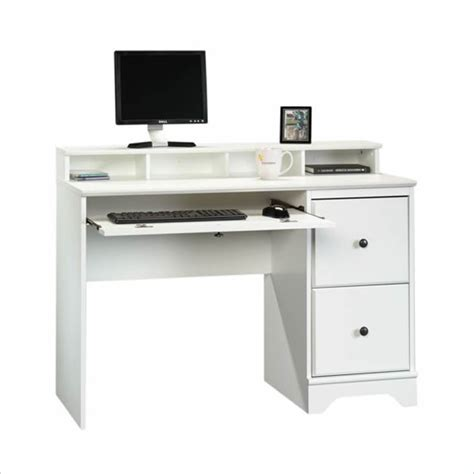 White Wood Computer Desk Sauder Falls Wood Soft White Computer Desk Ebay