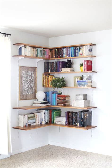 corner wall bookshelves best 25 wall mounted shelves ideas on mounted