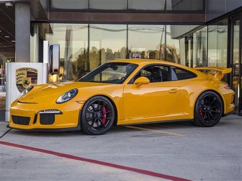 porsche signal yellow signal yellow 2015 porsche 911 gt3 german cars for sale blog