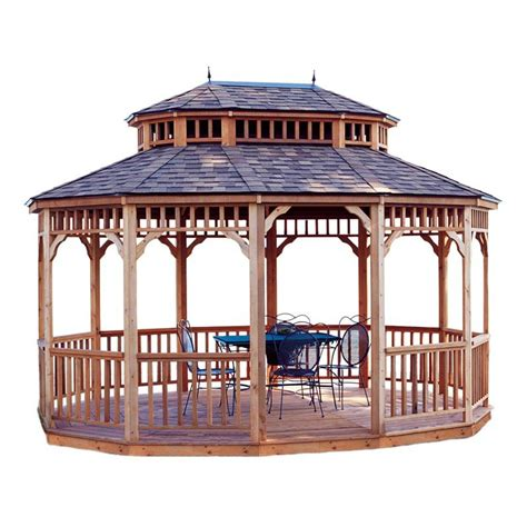 10 x 14 gazebo handy home monterey 10 x 14 ft oval gazebo gazebos at