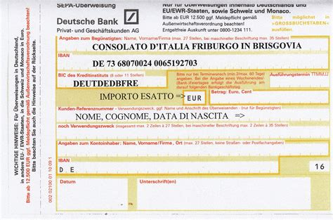 consolato italiano friburgo stato civile