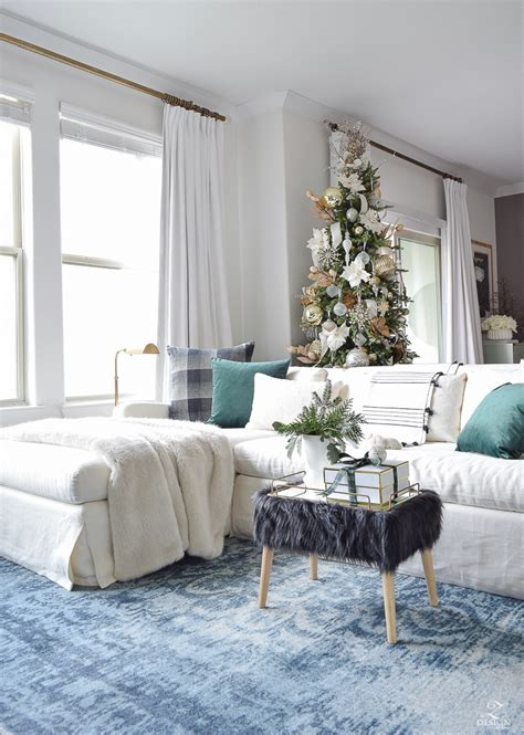 holiday home tour living room decor and the dog glam christmas living room tour tips for easy holiday