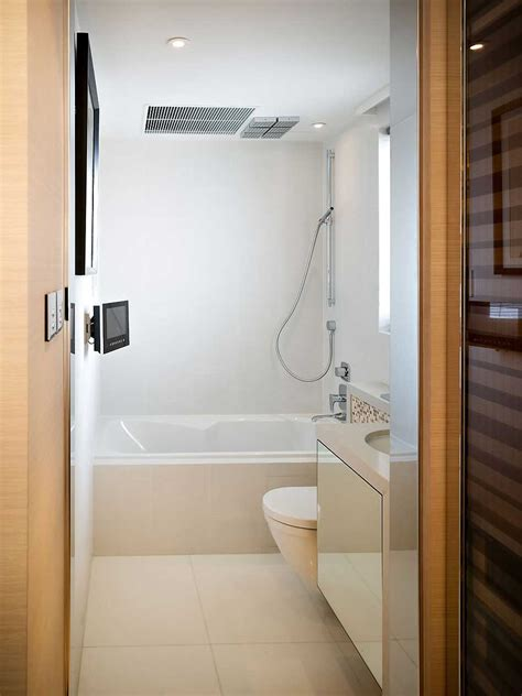 small tv for bathroom small white bathroom design with lcd tv interior design