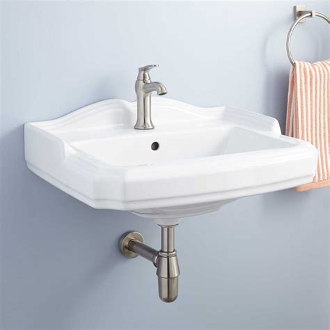 How To Drain A Bathroom Sink Garvey Porcelain Wall Mount Bathroom Sink Bathroom