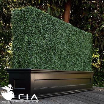 Hedge Planter Bag Large artificial boxwood fence panels with planter made of uv mats for fence screen buy