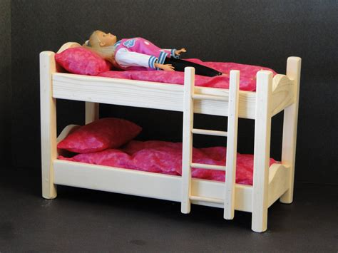 barbie doll beds 12 inch doll bunk bed with mattress 094