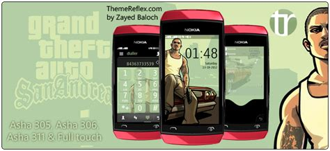 themes nokia asha 306 gta sanandreas theme for nokia asha 305 asha 306 asha