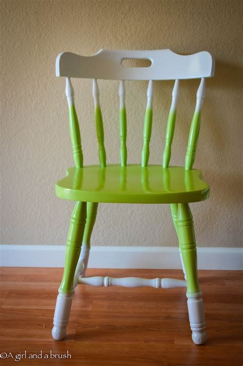 painted chair ideas green and white ombre chair stuff you can t get at ikea