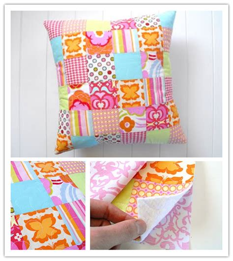 How To Make A Patchwork Cushion - how to make patchwork pillow step by step diy tutorial