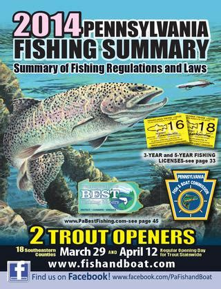 pa fish and boat trout regulations pa fish summary 2014 by pa fish issuu