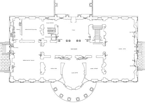 design of the white house floor plan of the white house cottage house plans