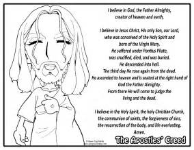 apostles creed colouring pages