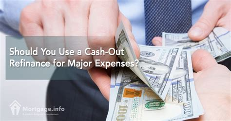 should you use a out refinance for major expenses
