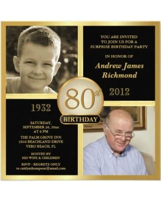 sle invitations for 80th birthday sales on 80th birthday invitations then now 2