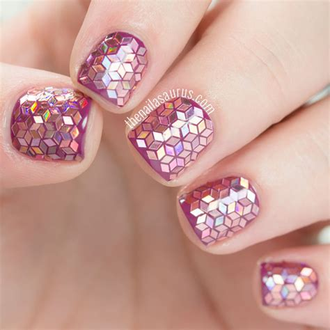 Glitzer Nägel Galerie 2471 by 31dc2015 Glitter Placement Nail The Nailasaurus