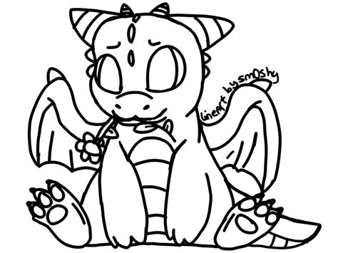 chibi dragon coloring pages chibi dragon lineart by p0ckyy on deviantart