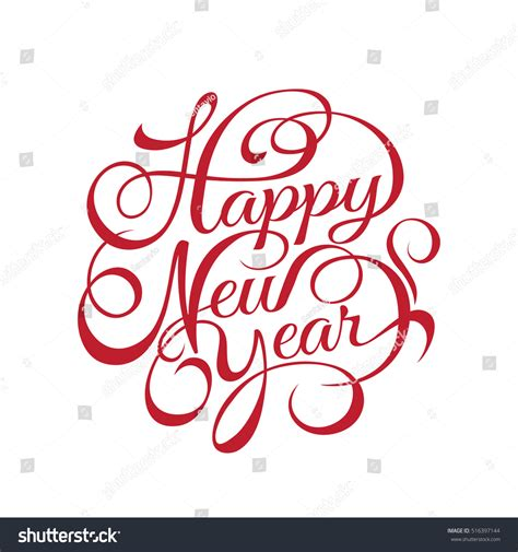 new year calligraphy vector free happy new year vector text calligraphic stock vector