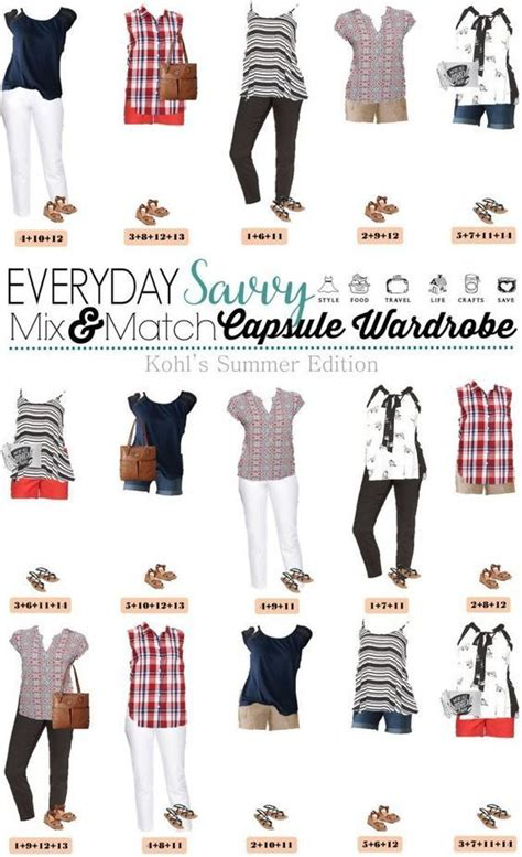 Mix And Match Wardrobe Pieces by Wardrobes Summer And Kohls On