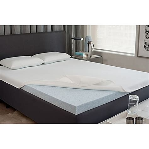 bed bath and beyond mattress topper viscofresh 174 2 inch gel memory foam mattress topper bed