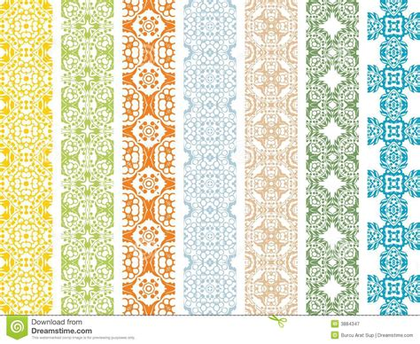 a seamless repeating retro floral retro seamless borders royalty free stock photography