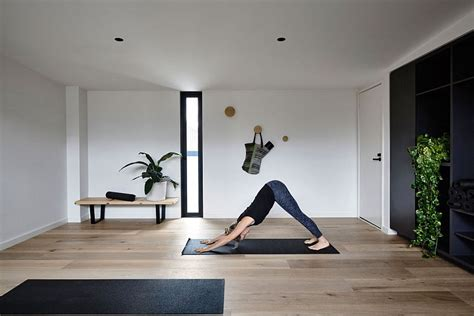 yoga inspired home decor elwood townhouse refined modern home and yoga studio