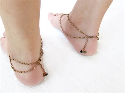 Anklet With Toe Ring anklet toe ring barefoot sandals footwear foot