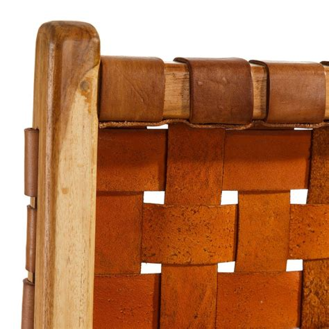 sedie teak sedia in teak e pelle intrecciata ethnic chic mobili scontati
