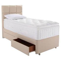buy relyon luxury 2200 2 drawer divan bed single from our