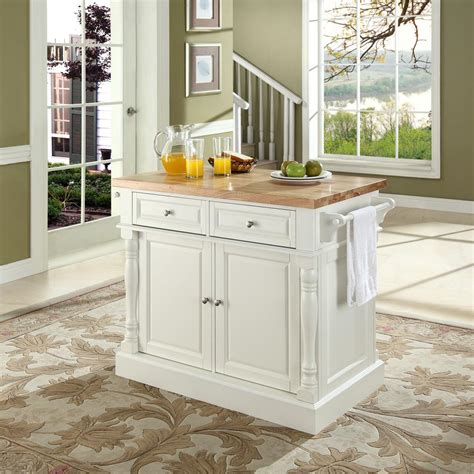 kitchen island butcher block top crosley butcher block kitchen island by oj commerce kf30006wh 699 00