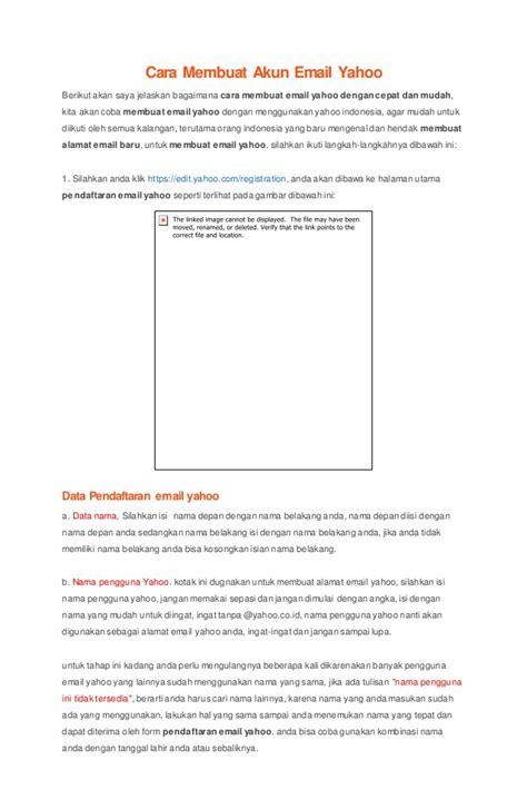 bagaimana cara membuat yahoo groups cara membuat akun email yahoo