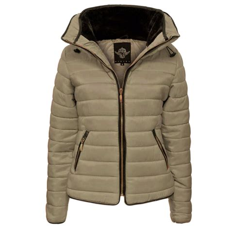 padded jacket quilted puffer padded jacket fur collar