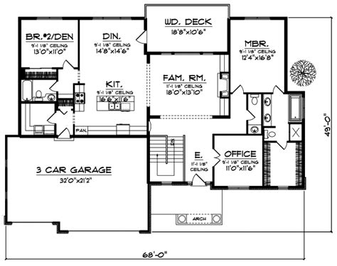 small retirement home plans retirement house plans mountain house with open floor plan
