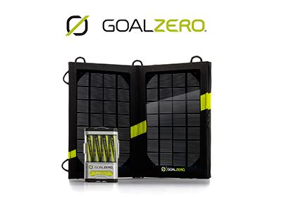 Töff Batterie by Goal Zero Guide 10 Plus Solar Recharging Kit Sauve Ta