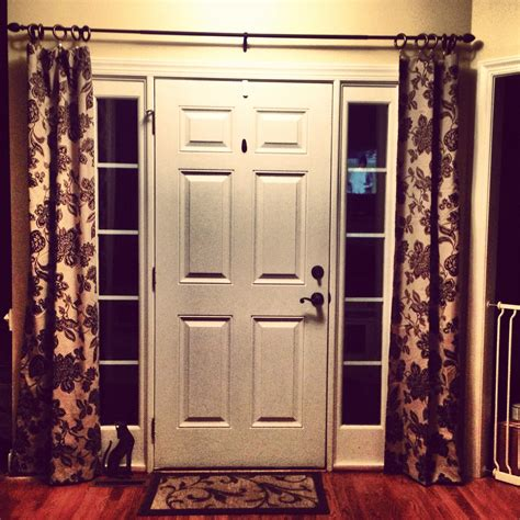 sidelight window curtain rods best 25 sidelight curtains ideas on pinterest front