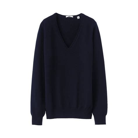 Uniqlo Sweater Navy by Uniqlo V Neck Sweater A In Black Navy Lyst
