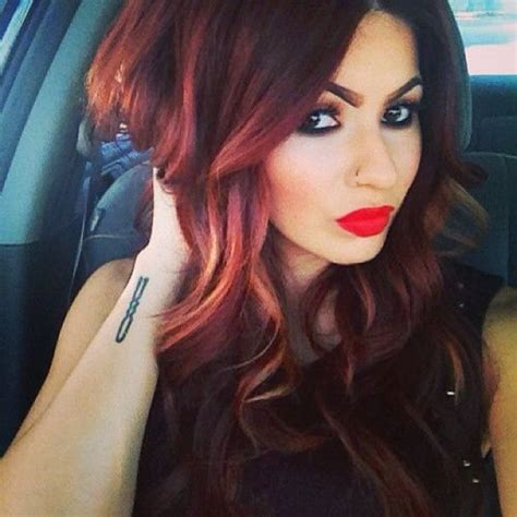 burgundy hair on a latina 17 best images about styles to try on pinterest dark