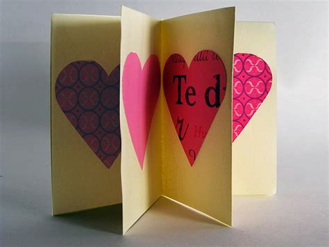 origami valentines card origami greeting card