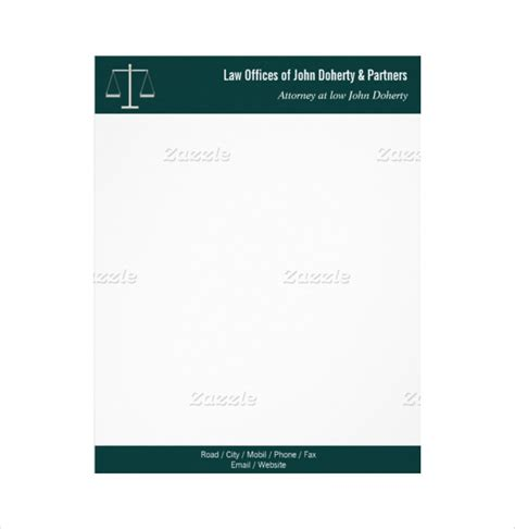 20 law firm letterhead templates free sle exle