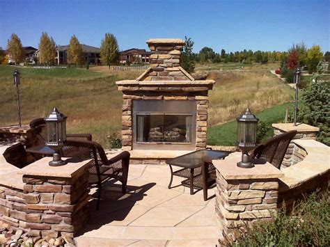 prefab outdoor fireplace kits ideas prefab outdoor